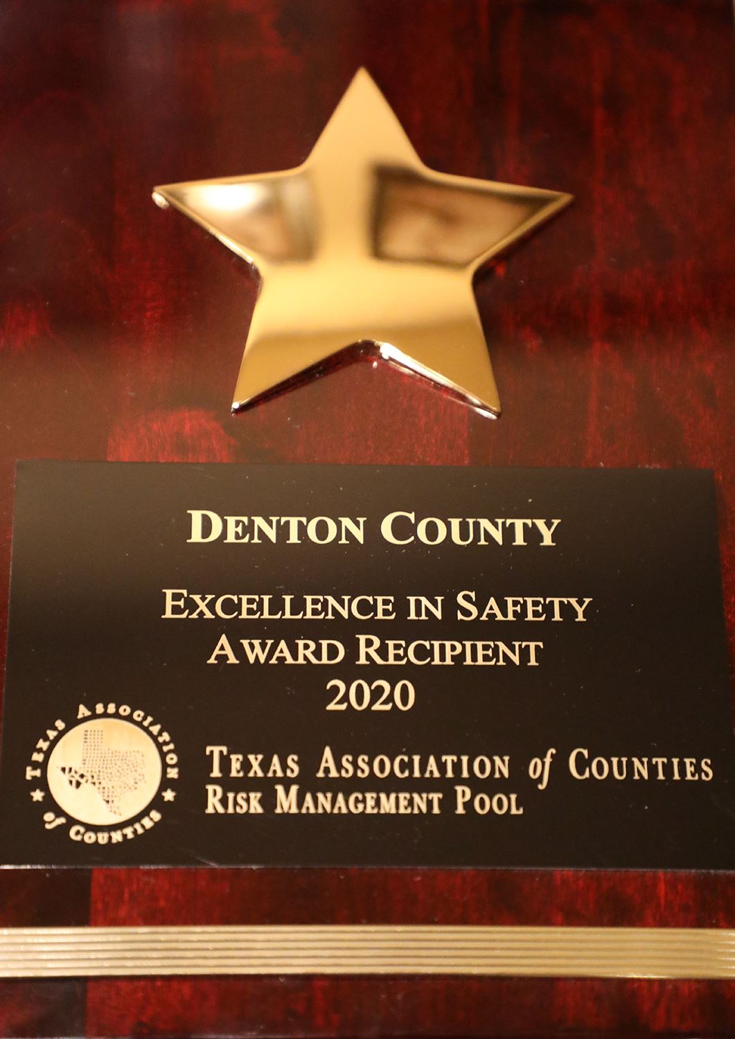 Denton County receives Safety Award for 2021 from Texas Association of Counties.